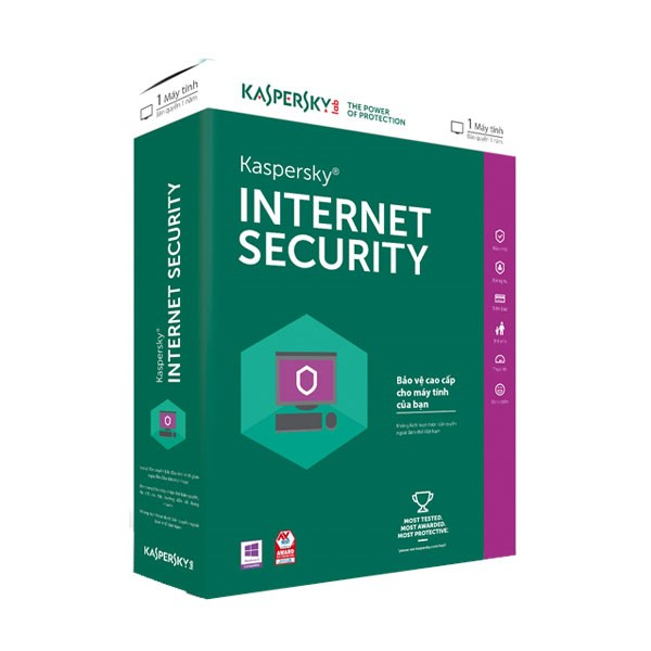 CÀI ĐẶT KASPERSKY INTERNET SECURITY 2018(1PC)